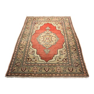 "Bellwether Rugs Vintage Turkish Oushak Rug - 4'2""x5'6"""