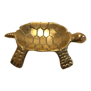 Brass Turtle Trinket Dish