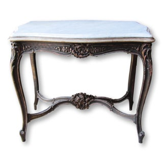 Antique French Marble-Top Entry Table