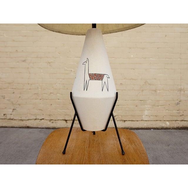 California Modernist Llama Lamp - Image 4 of 6