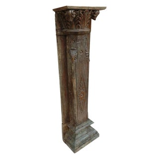 Antique Indian Plant Stand Sculpture Stand