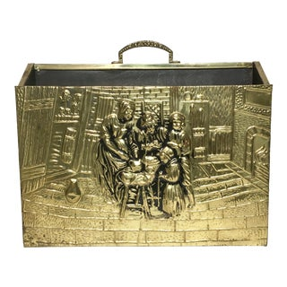 English Repousse Gold Magazine Caddy Rack