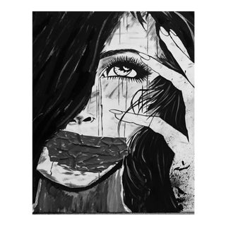 Woman Crying Painting on Canvas