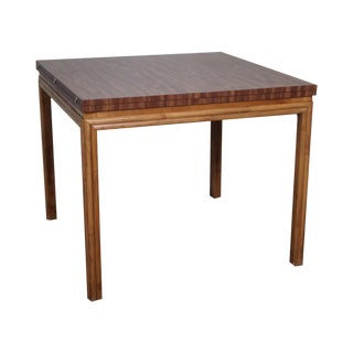 Ficks Reed Rattan Base Expandable Game Table