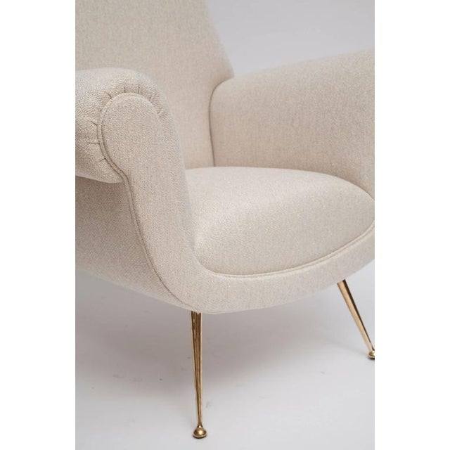 Fully Restored Pair of 1950s Italian Lounge Chairs by Gigi Radice for Minotti - Image 7 of 10