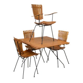 Arthur Umanoff Slatted Wood Dining Set