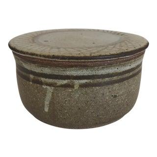 Vintage Studio Pottery Stoneware Lidded Vessel