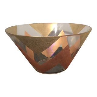 Mid Sixties Pink and Gold Decorative Bowl