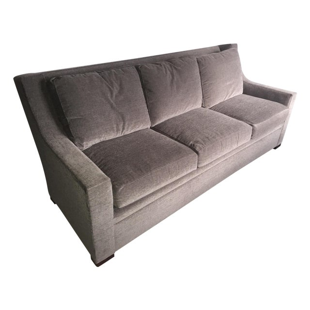 Henredon Contemporary Gray Sofa Chairish