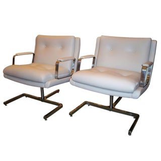 Pair of Modernist Club Chairs by Raphael, France circa 1970