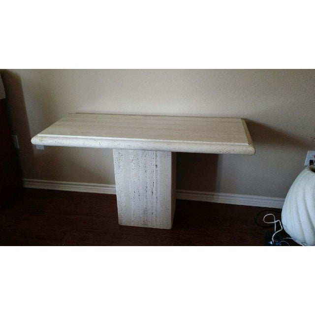 Italian Travertine Console - Image 2 of 4