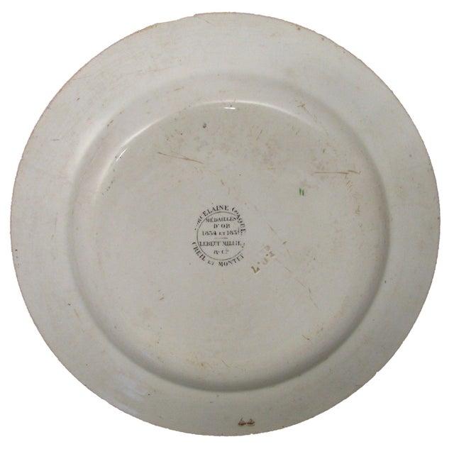 Antique Polychrome Napoleon Plate - Image 2 of 2