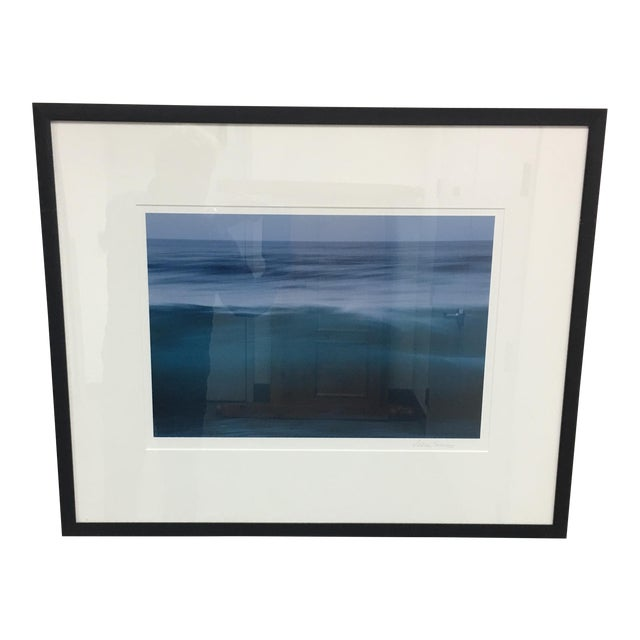 Eddie Soloway Blue Water Color Photograph - Image 1 of 8