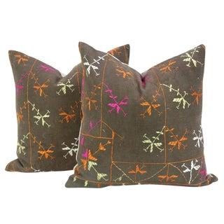 Shamila Phulkari Pillow, Pair