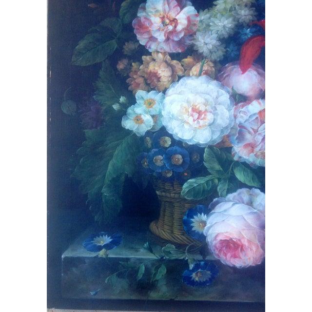 Image of Vintage G. Weberwick Original Floral Oil Painting