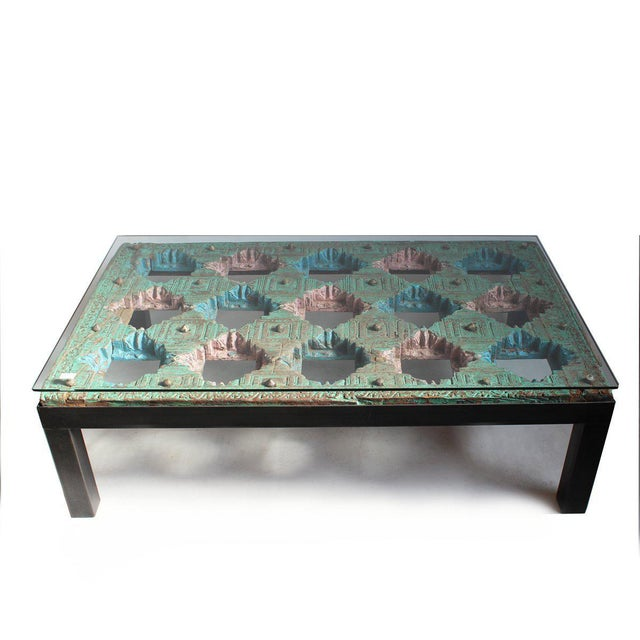 Indian Ceiling Panel Coffee Table