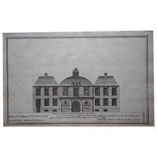 Antique Engraving Facade Lg. Folio