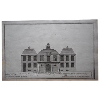 Antique Engraving Facade Lg. Folio