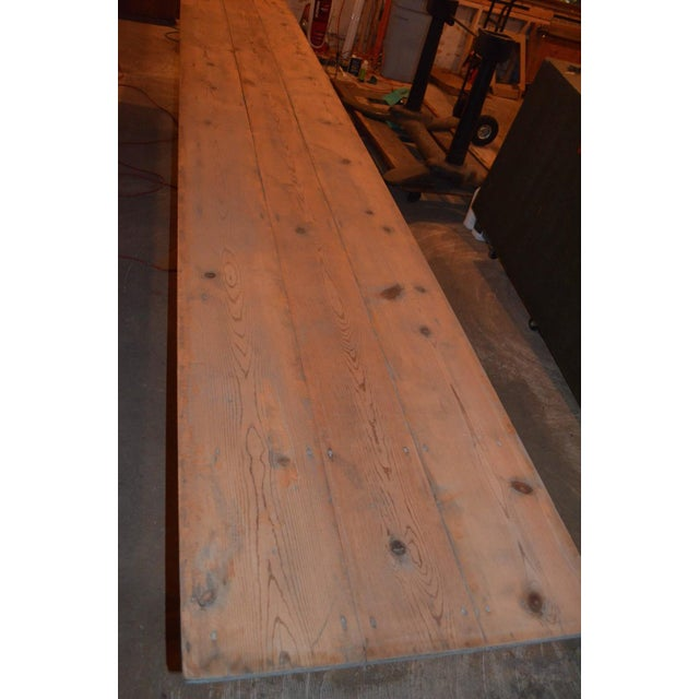 Antique Old Harvest Pine Table - Image 3 of 9