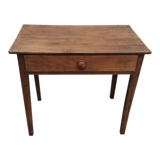 Fruitwood Side Table With Drawer