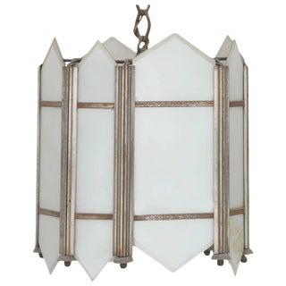 Art Deco Slat Glass Pendant Light