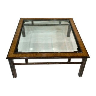 Drexel Oil Drop & Bamboo Coffee Table