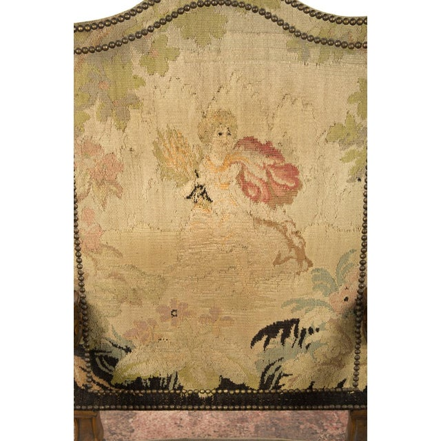 Antique Louis XIII Tapestry Armchairs - A Pair - Image 8 of 10