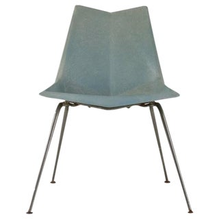 Paul McCobb Blue-Grey Origami Side Chair, USA, 1950s