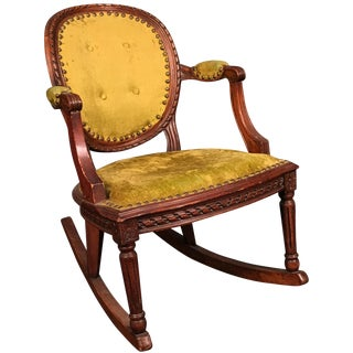 Carved Victorian Rocking Chair