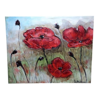 Mountain Poppies Oil Painting