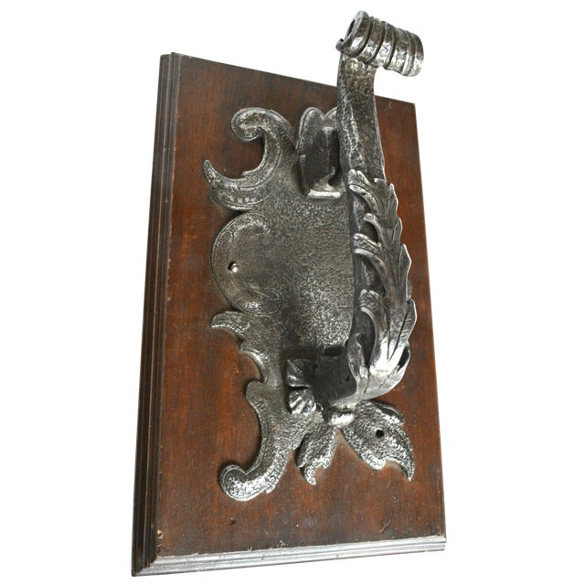 French Rococo Hand Wrought Door Knocker - Image 1 of 5