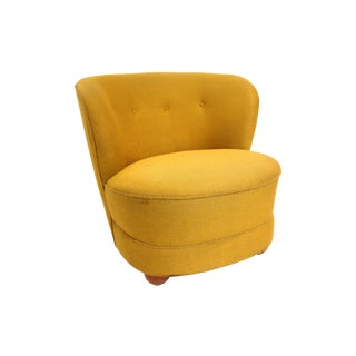 1940s Chartreuse Slipper Chair