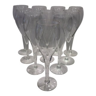 Mid-Century Modern Tulip Champagne Glasses - Set of 8