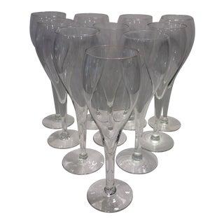 Mid-Century Modern Tulip Champagne Glasses - Set of 8