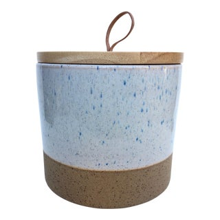 Large Speckled Stoneware Ojai Canister