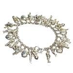 Image of Sterling Silver Charm Bracelet