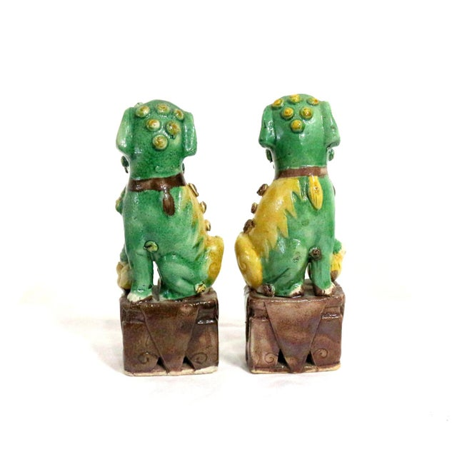 Foo Dog Guardians Good Luck Dogs - A Pair - Image 3 of 5