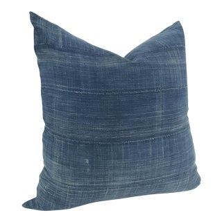 African Indigo Textile Pillow Cover