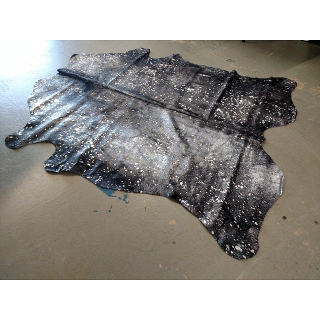 Gambrell Renard Silver & Black Cowhide Rug - 6′ × 7′ - Image 2 of 3
