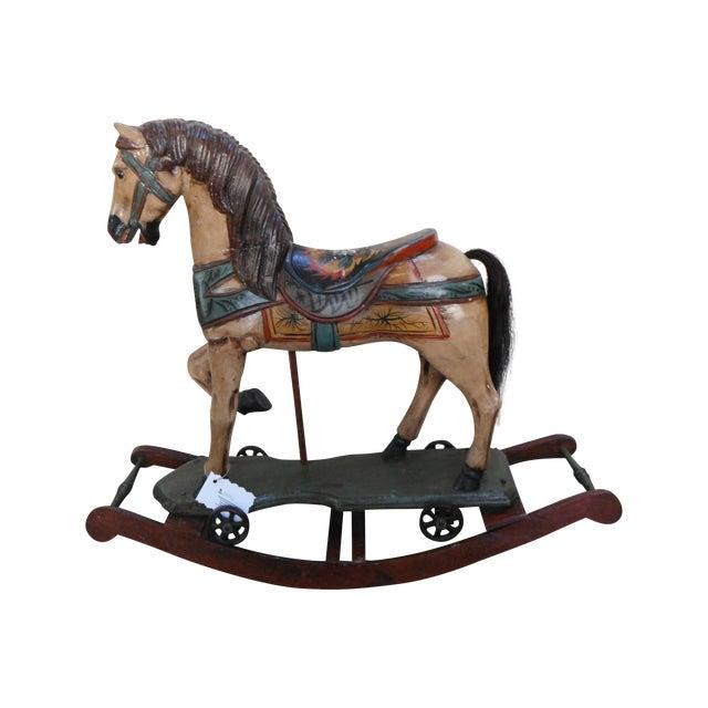 Vintage Display Hand Painted Rocking Horse - Image 1 of 10