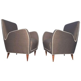 Pair of Italian Club Chairs Attributed to Paolo Buffa