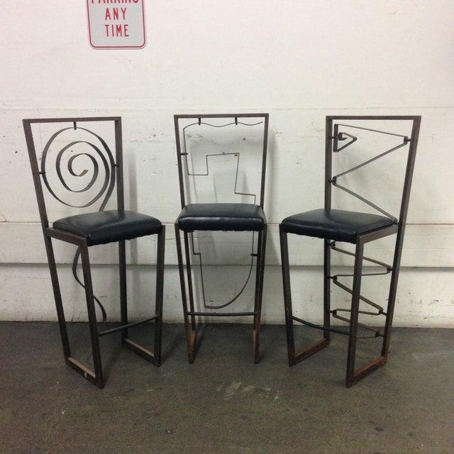 Image of Custom Designed Barstools - Set of Three