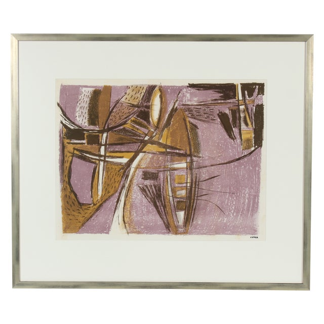 Mid Century Abstract Lithograph - Image 1 of 3