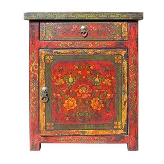 Chinese VintageTibetan Flower Cabinet