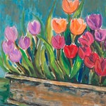 Image of Tulips in a Terracotta Planter by Vera Indenbaum