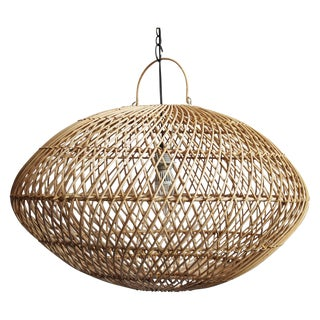 Raw Wicker Lantern