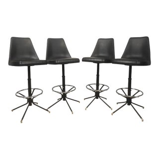 Set of Mid-Century Modern Swivel Bar Stools