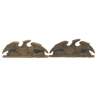 Brass Patriotic Eagle Bookends