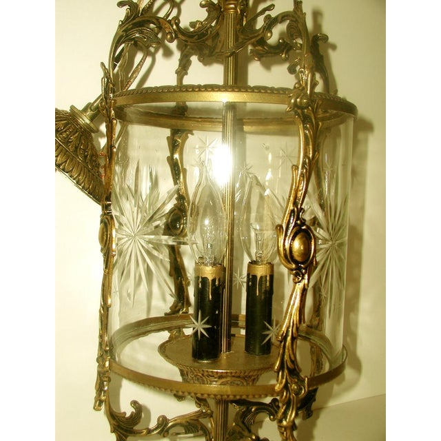 Image of Etched & Rewired German Crystal/Bronze Fixture
