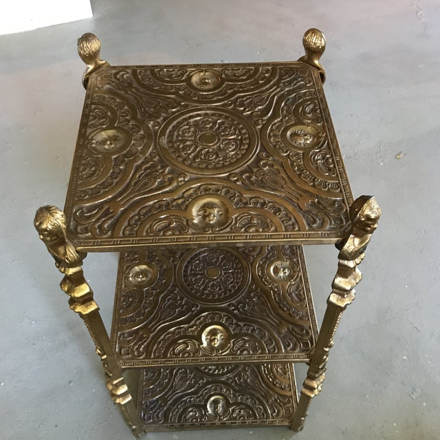Victorian Style Three Tier Side Table Shelf - Image 4 of 5